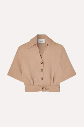 Nanushka Cayne Belted Woven Shirt - Neutral