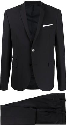 Neil Barrett Travel Fine bi-stretch gabardine slim suit