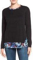 NYDJ Petite Women's Layered Look Sweater