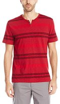 Kenneth Cole Reaction Men's Short-Sleeve Striped Henley Shirt