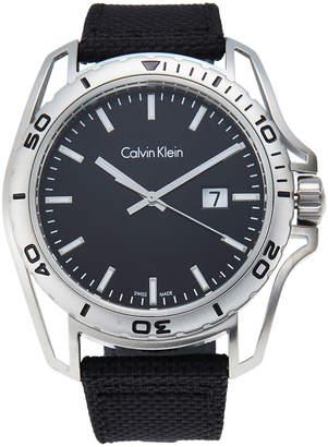 Calvin Klein K5Y31TB1 Silver-Tone & Black Watch