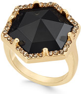 INC International Concepts Gold-Tone Large Stone and Crystal Statement Ring, Created for Macy's