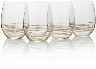 Mikasa Electric Boulevard 4-pc. Stemless Wine Glass Set