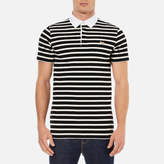 MAISON KITSUNÉ Men's Marin Polo Shirt Black Ecru
