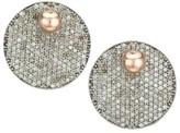 Nina Gilin Pave Diamond Round Drop Earrings