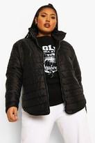 boohoo Plus Padded Short Jacket