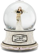 "Modeles Modele Hope Musical Water Globe with Tune ""Wind Beneath My Wings"", Reads ""When We Have Hope and Believe Miracles Happen"", 6-Inches Tall"