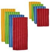 Nobrand No Brand Primary Stripe Microfiber Towel and Cloth Set - Multi-Colored