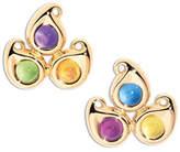 Tamara Comolli Paisley Three-Stone Stud Earrings