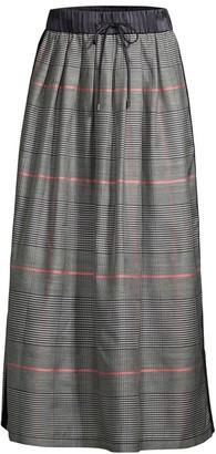 Peserico Plaid Ballerina Midi Skirt