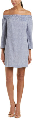 Lafayette 148 New York Off-The-Shoulder Linen Shift Dress