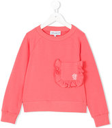 Simonetta ruched pocket sweatshirt