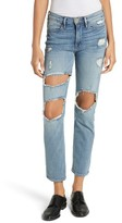 Frame Women's Le High Straight Destroyed Crop Jeans