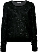 Dorothee Schumacher - cut out floral embroidered jumper - women - Cotton - 4
