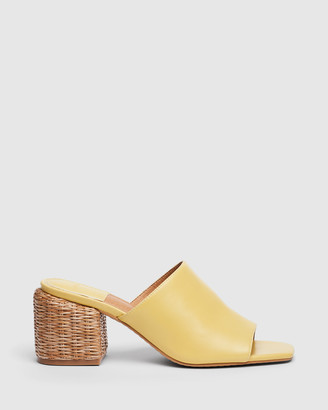 cherrichella - Women's Yellow Open Toe Heels - Wicked Mules - Size One Size, 39 at The Iconic