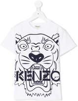 Kenzo tiger head print T-shirt