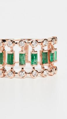 Shay 18k Emerald & Diamond Dot Dash Ring
