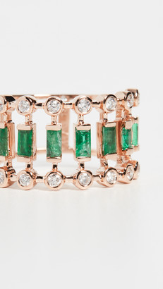 Shay Emerald & Diamond Dot Dash Ring