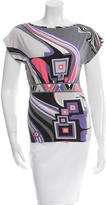 Emilio Pucci Abstract Print Scoop Neck Top