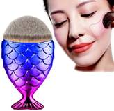Mapletop Fish Scale Makeup Brush Powder Blush Makeup Cosmetic Brushes Tool