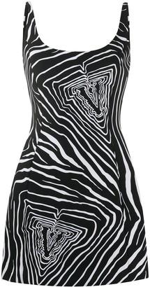 Versace Graphic Logo Print Dress