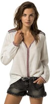 Tommy Hilfiger Embroidered Linen Tunic