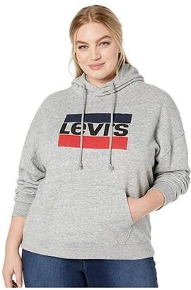 Levi's(r) Plus Graphic Hoodie (Sportswear Logo Smokestack) Women's Clothing