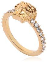 Versace Medusa Thin Ring W/ Crystals