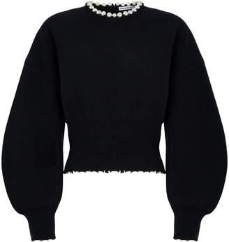 Alexander Wang Wool-Cashmere Cut-Out Sweater