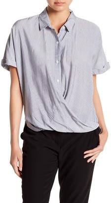 BCBGeneration Wrap Hem Dolman Sleeve Shirt