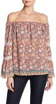 Jessica Simpson Off-the-Shoulder Boho Printed Blouse