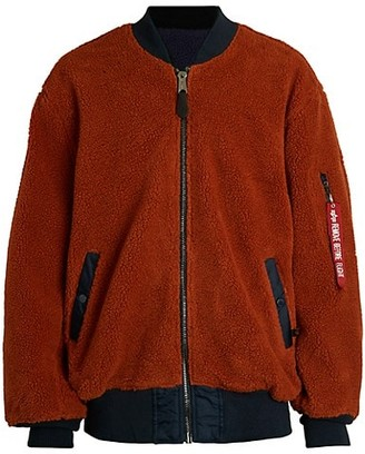 Alpha Industries L-2B Reversible Faux Shearling Loose Flight Bomber