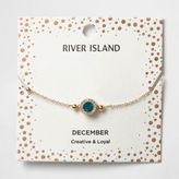 River Island Womens Blue gem December birthstone bracelet