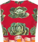 Dolce & Gabbana Sleeveless Cavoli Crop Top