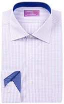 Lorenzo Uomo Long Sleeve Trim Fit Check Dress Shirt