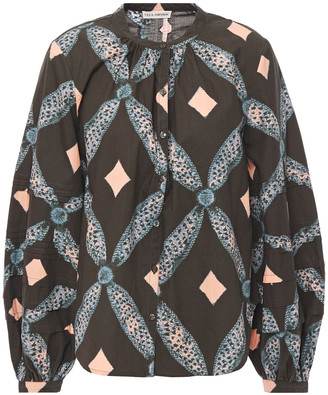Ulla Johnson Gathered Printed Cotton Blouse