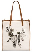 Mossimo Women's Printed Tote Natural