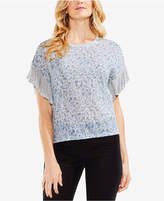 Vince Camuto Drop-Shoulder Ruffle-Sleeve Top