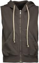 Rick Owens Dark Shadow cotton-jersey hooded sweatshirt