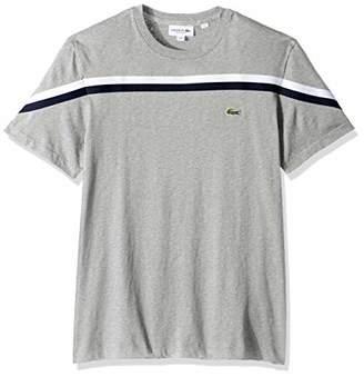 Lacoste Men's Short Sleeve Striped Jersey Regular Fit T-Shirt