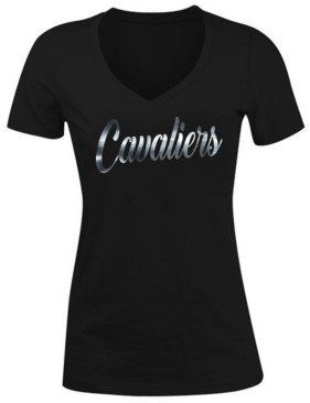 5th & Ocean Women's Cleveland Cavaliers Foil V Neck T-Shirt