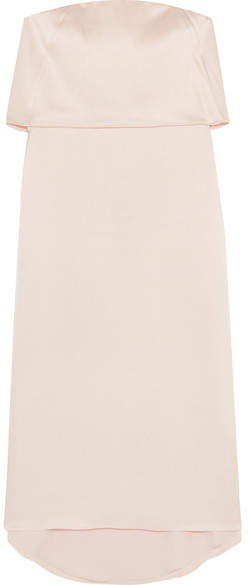 Halston Layered Satin Dress - Blush