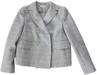 Carven Blue Cotton Jacket for Women