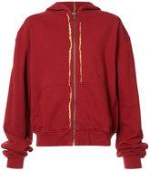 Haider Ackermann gold-tone detail hoodie