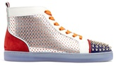 Christian Louboutin Louis Contrasting High-top Leather Trainers