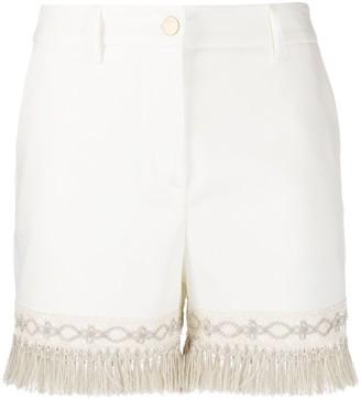 Blumarine Fringe Hem Shorts