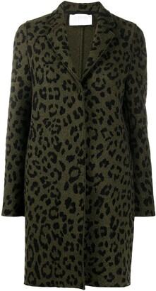 Harris Wharf London Leopard Print Single-Breasted Coat