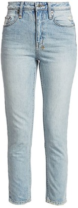 Ksubi Slim Pin High-Rise Straight Jeans