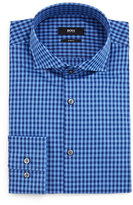 HUGO BOSS Jason Gingham Slim-Fit Dress Shirt, Blue