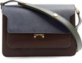 Marni Trunk medium colour-blocked leather shoulder bag